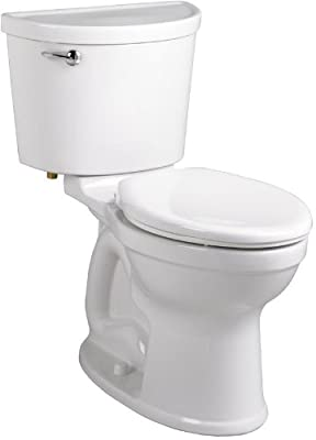 American Standard 211AA.105.020 Champion PRO Right Height Elongated Toilet Combination with Right-Hand Trip Lever Less Seat, White
