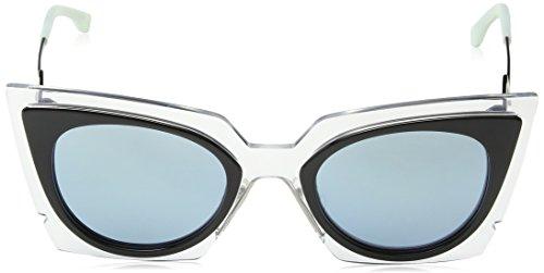 Crystal Speckled sol 0117 Ff Mujer Grey Azure s Black Gafas Negro de Fendi q68ZFwx