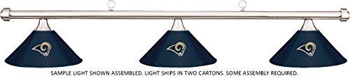 Metal Rams Louis - NFL St Louis Rams Blue Metal Shade & Chrome Bar Billiard Pool Table Light