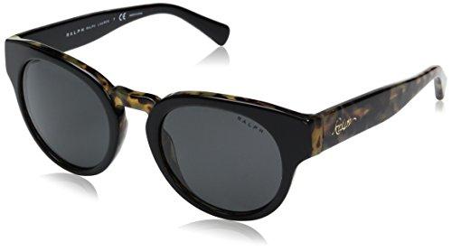 Ralph by Ralph Lauren Women's Acetate Woman Round Sunglasses, Black/Tortoise, 50 - Preppy Glasses Frames