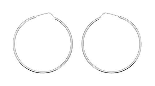 Boucles d'Oreilles Créoles Femme - E-11282 - Argent Sterling 5.8 Gr