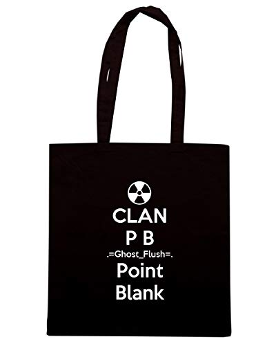 Borsa FLUSH POINT B Shopper GHOST CLAN TKC3583 P BLANK Nera rwrxqB4p