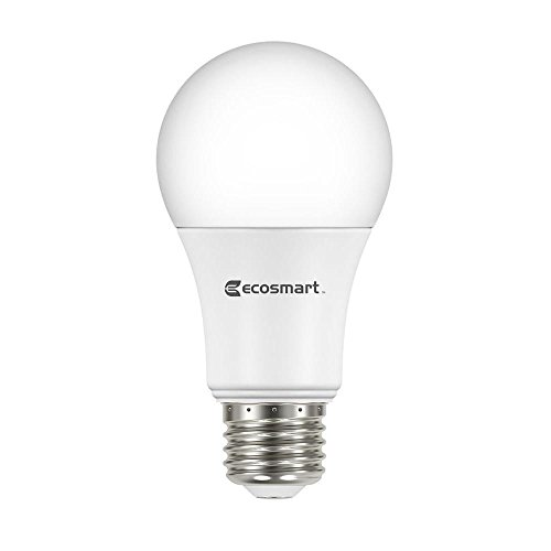 EcoSmart 9.5 Watt (60W Equivalent) Soft White A19 Non-Dimmable LED Light Bulb 1 Box (8 Bulbs Total)