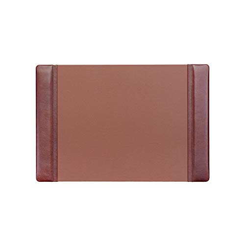 (Dacasso Mocha Leather Desk Pad with Side Rails, 25.5-Inch by 17.25-Inch)