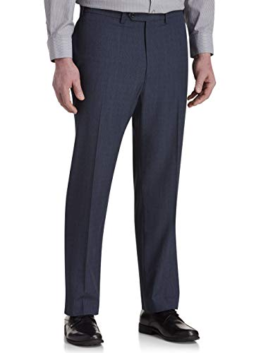Geoffrey Beene Mens Suit - Geoffrey Beene Big and Tall Stretch Windowpane Suit Pants Blue