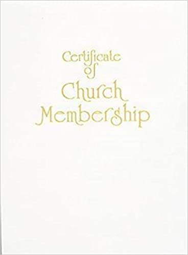 Contemporary Steel Engraved Church Membership Certificate Pkg Of 3 Abingdon Press 9781426710599 Amazon Books