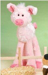 "Lanky Legs Stuffed Pig 13"" for Infants & Children Washable Plush"