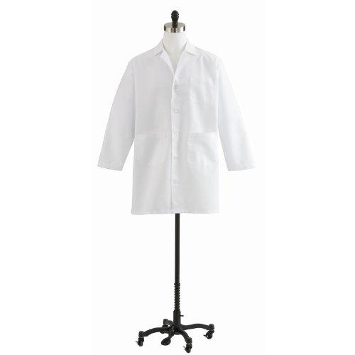 - Medline MDT12WHT52E Unisex Staff Length Lab Coat, White