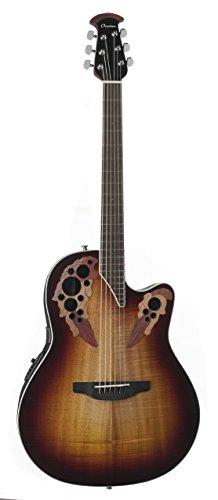 Ovation Celebrity Elite Plus Figured Koa Top Acoustic-Electric Guitar, Koa Burst