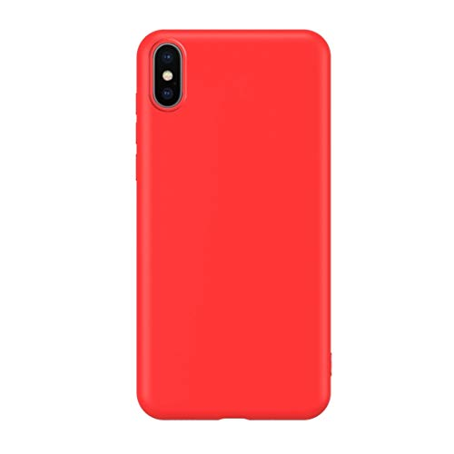 QINGMU Ultra-Thin Liquid Silicone All-Inclusive Mobile Phone Case DOP Protectionr Case Environmentally Friendly Material Can Be Washed Mobile Phone Case for iPhone XR (Colour : Red) (Dop Mobile)