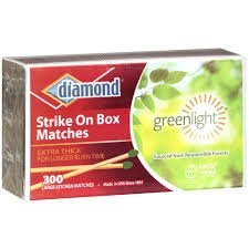 Diamond Wooden Matches, Kitchen Matches, Strike on Box Matches, 3 Boxes of 300 in each box for a total of 900 matches, Extra Thick for longer burn time