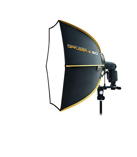 XP Photogear Speedbox Diffuser 60cm Professional 23-Inch Rigid Quick Folding Softbox for Speedlight Flash by XP Photogear