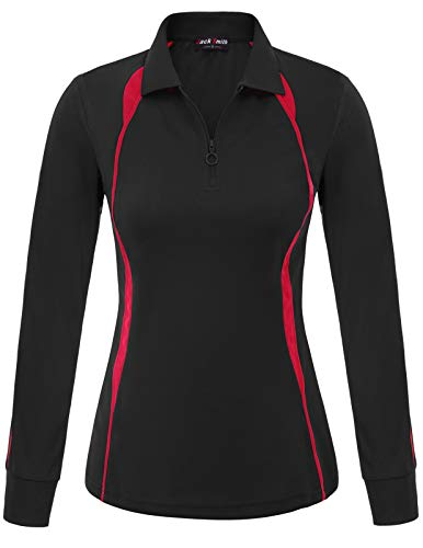 Sun Protective Equestrian Shirt - Long Sleeved Tuscany for Women(M,Black 2002)