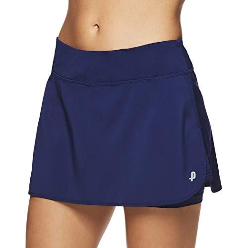 Penn Women's Spike Athletic Mini Skort for Performance Training Tennis Golf & Running (Small, Medieval Blue)
