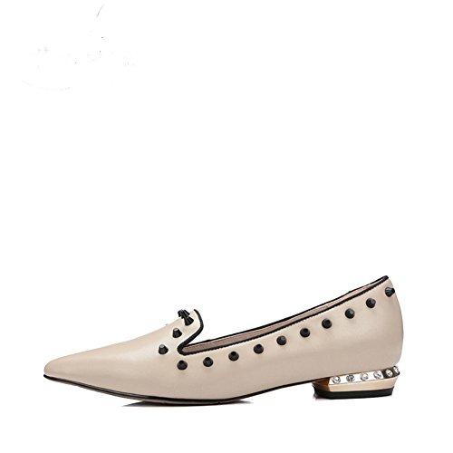 Señora zapatos planos remache/Bromista con los zapatos de trabajo profesional/Zapatos de viajero A