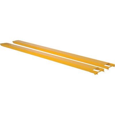 Vestil FE-4-48-P Fork Extensions, Pin Style, 48'' L x 4'' W, Yellow (Pack of 2) by Vestil