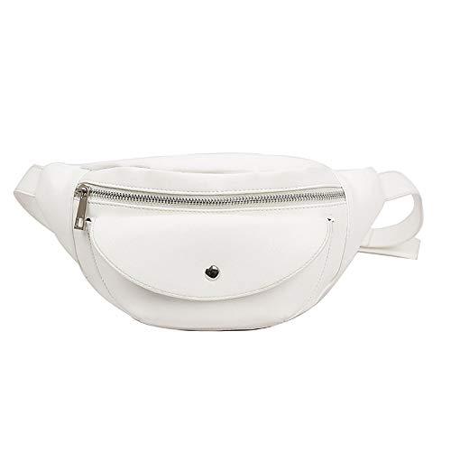 Unisex Solid Color Simple Waist Bag Hip Bag Multi-Pocket T Bag Multifunction Shoulder Crossbody Bag Wild Messenger