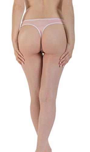 4bf323c09b4 Emprella Womens Underwear, 10 Pack Thongs for Women Cotton Seamless Ladies  Thong Panties