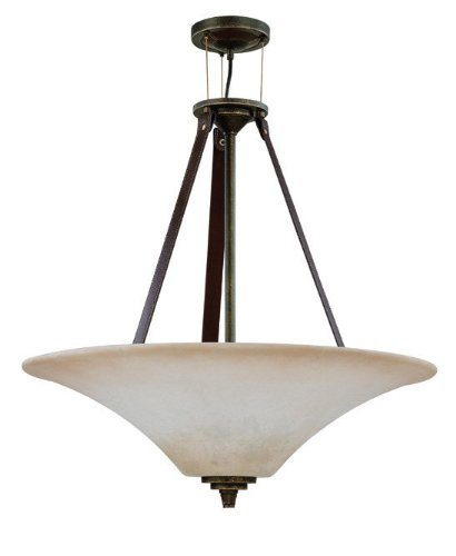 Nuvo 60/1182 Large Four Light Pendant With Burtn Sienna Glass, Golden Umber