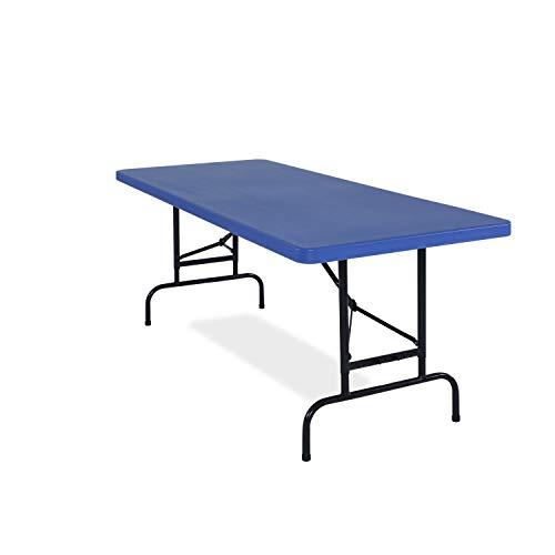 National Public Seating All-American, ADJ, Rectangular Folding Table avaible in Blue or Red, Pack of 2 Red