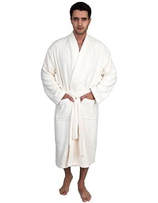 TowelSelections Men's Robe, Organic Cotton Terry Kimono Bathrobe Made in Turkey