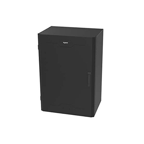 C2G/Cables to Go 4RU Vertical Wall-Mount Cabinet with Full Door – 36 Inch Height, Black (VWMFD-4RU-36-B)
