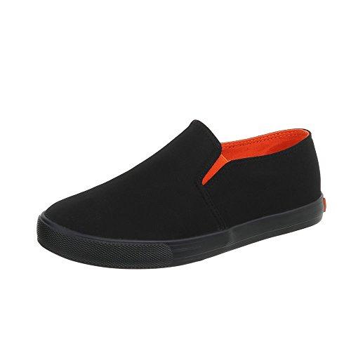 Moderne De Femmes Occasionnels 1 Italien Sport R53 design Pour Noir Faible Chaussures Td0q0