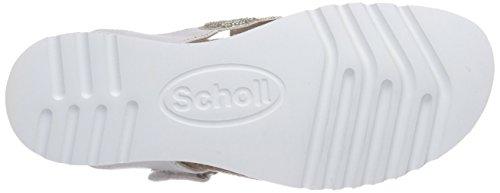 Scholl ARYA pearl white - Sandalias de dedo de material sintético mujer blanco - blanco (blanco)