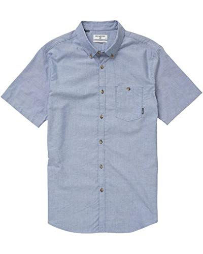(Billabong Men's All Day Oxford Short Sleeve Shirt, Blue S)