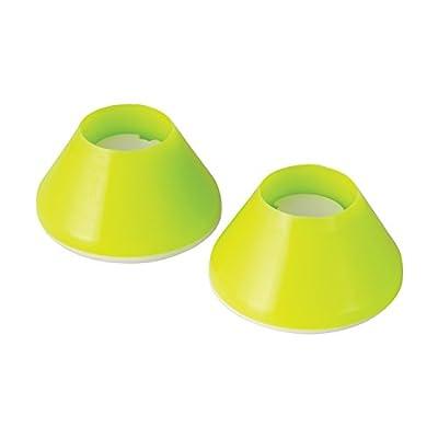 HealthSmart Walker Glides, Walker Glide Caps, Walker Slides, Rubber Tips, Green, 2 Count