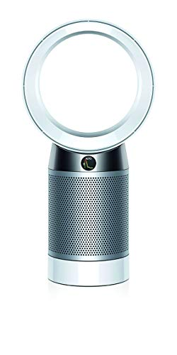 Dyson Pure Cool, DP04-HEPA Air Purifier and Fan WiFi-Enabled, Large Rooms, Automatically Removes Allergens, Pollutants, Dust, Mold, VOCs, White/Silver (Renewed)