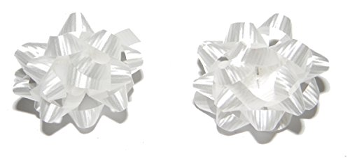 White Bow Post Earrings Large 1 1/2 Inch Diameter Holiday Christmas