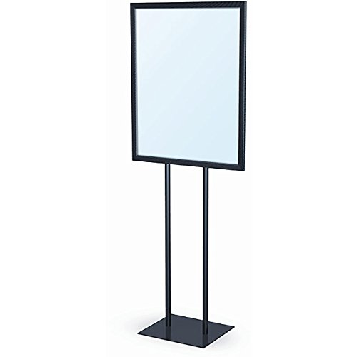 Source One LLC Premium Metal 22 x 28 Free Standing Sign Holder Fixture - BLACK by SOURCEONE.ORG