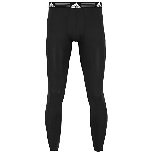 adidas Mens Baselayer Climalite UPF Pants Underwear (1-Pack), Black, Medium