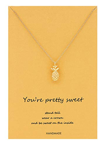Geerier You're Pretty Sweet Pineapple Pendent Necklace