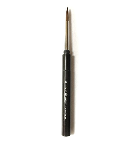 Field Artist Travel Brush size 6, Weasel Hair, Brush with Cap (Brush Rig)