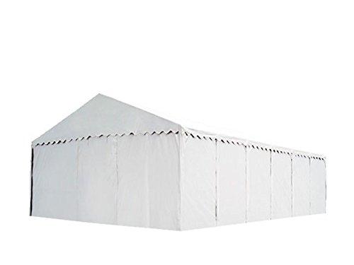 XXL Lagerzelt PROFESSIONAL 6x12m, hochwertige 550g/m² PVC Plane in weiß, vollverzinkte Stahlkonstruktion, Ø Stahlrohre ca. 50 mm, Seitenhöhe ca. 2,6 m
