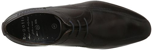 Bugatti 312294021100, Zapatos de Cordones Derby para Hombre Marrón (Dark Brown)