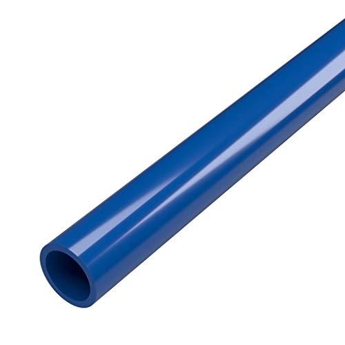 FORMUFIT P012FGP-BL-5 Schedule 40 PVC Pipe, Furniture Grade, 5, 1/2 Size, Blue