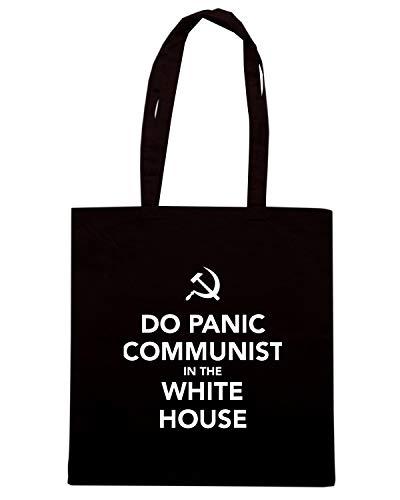 Speed Shirt Borsa Shopper Nera TKC3630 DO PANIC COMMUNIST IN THE WHITE HOUSE