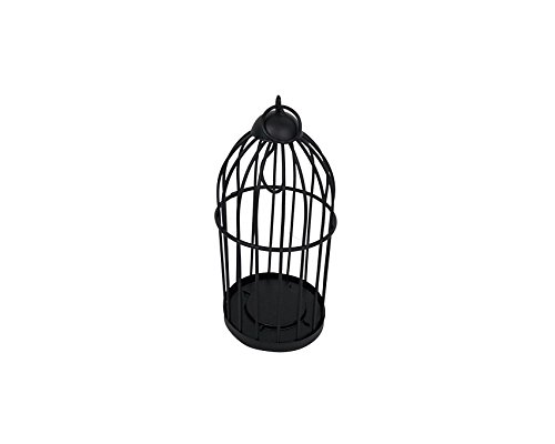 Craft Outlet Bird Cage, 3 x 7-Inch, Black by Craft Outlet Inc