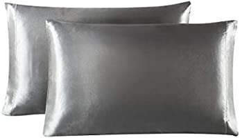 Lovescabin Satin Pillowcases Set for Hair and Skin Queen/King/Body Size Pillow Case with Envelope Closure (Anti...