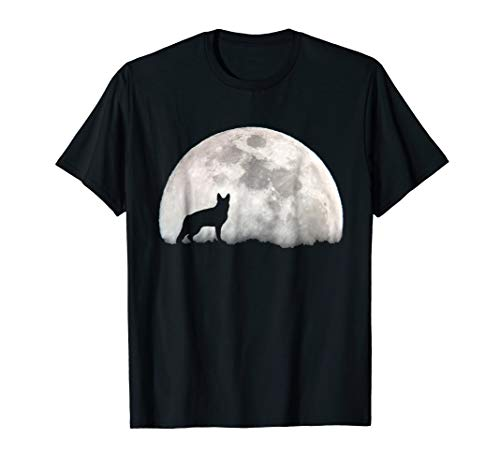 German Shepherd And Moon Halloween Love Halloween T-Shirt -