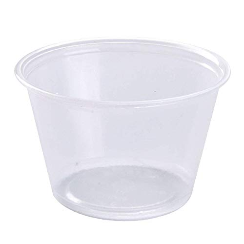 (Disposable Souffle Portion Plastic Cups – 4 Oz Clear Food Storage Condiments Container, Perfect for Sauces, Dips, Salsa or Other Food Samples (Pack of 200))