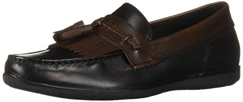 Dockers Men's Landrum Shoe, Black/Antique Brown, 7.5 M US