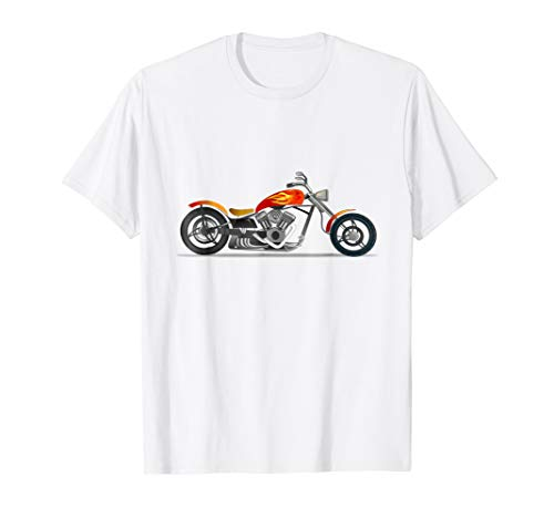 Classic Motorbike Chopper Motorcycle - Motorcycle T-shirt Chopper