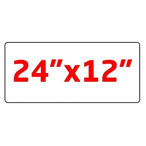 "Wholesale 2 12""x24"" Blank Magnetic Sign Sheets - Blank Car Magnet Signs, 30 Mil. Round Corners."