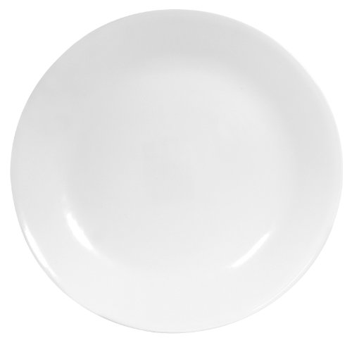 Corelle 1107731  Livingware 6-Piece Dinner Plate Set, Winter Frost White