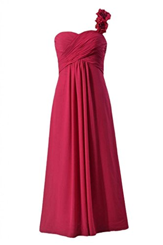 Women Long Shoulder DaisyFormals BM346 Dress Bridesmaid 11 Dress One magenta Chiffon Dye Evening UqaqwdH