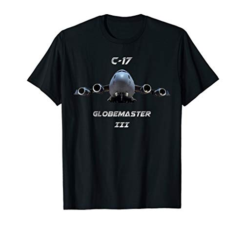 (C-17 military transport aircraft USAF and Royal Air Force T-Shirt)